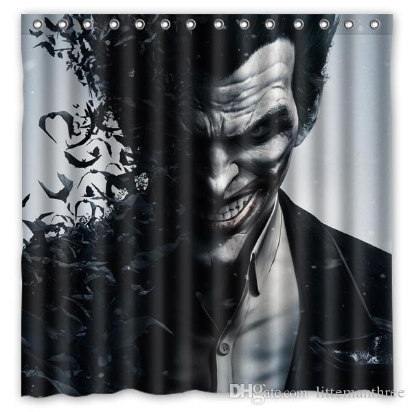 2018 Batman Arkham Origins Joker Design Shower Curtain Size 180 X ...