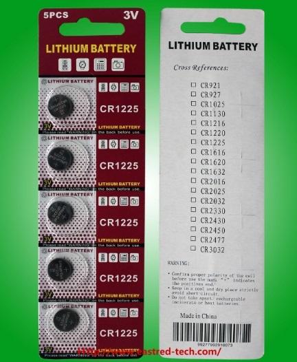 200Packs watch battery CR1225 3V Lithium button cell batteries coin cells blister card