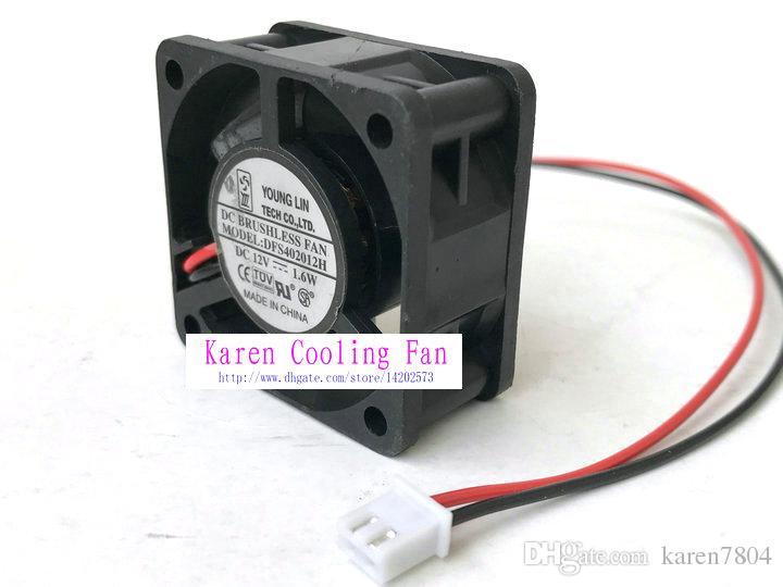 Nueva Original YongLin DFS402012H 12 V 1.6 W 40 * 40 * 20 MM 4 cm de potencia silenciosa Ventilador