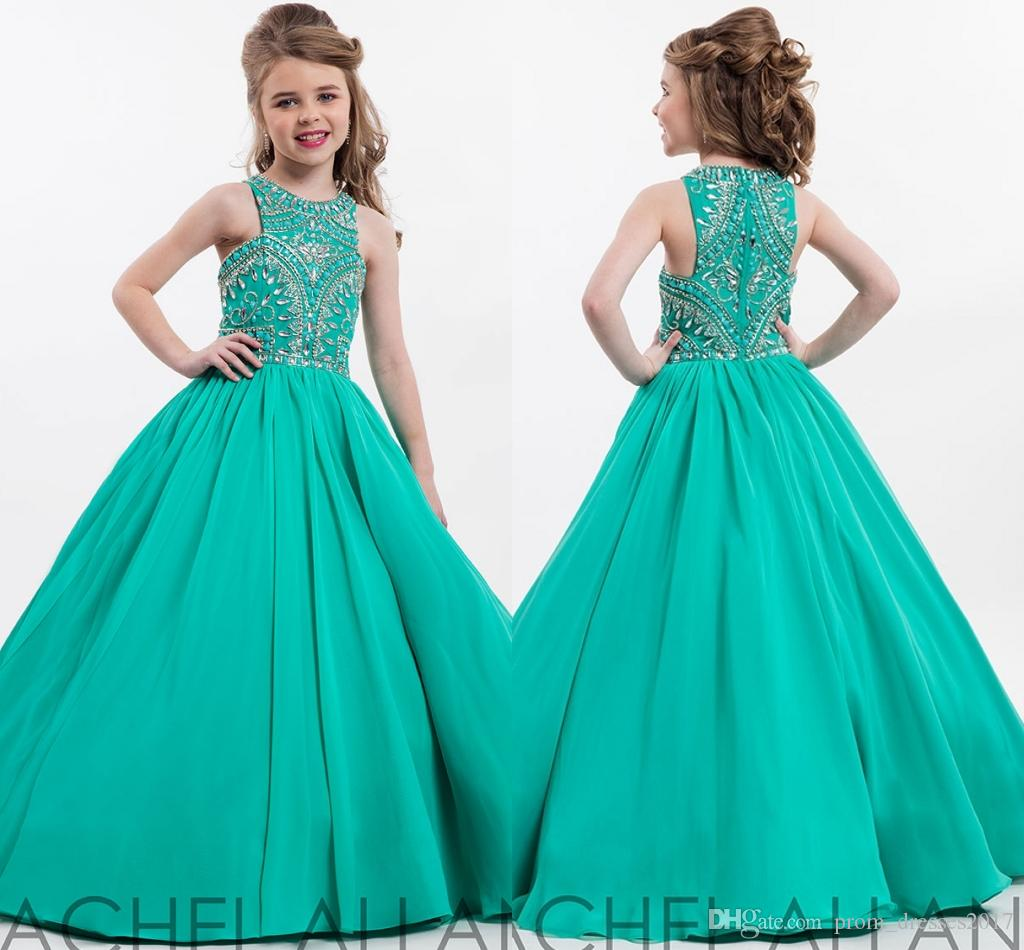New Perfect Angels By Rachel Allan High Neckline Pageant Gown Custom ...
