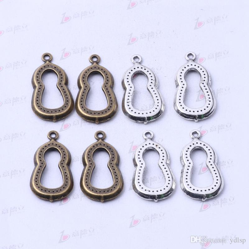Los ajustes de la joyería de la forma de la calabaza colgante de los encantos antiguos de la aleación de la plata / del bronce DIY cupieron el collar / 3123z