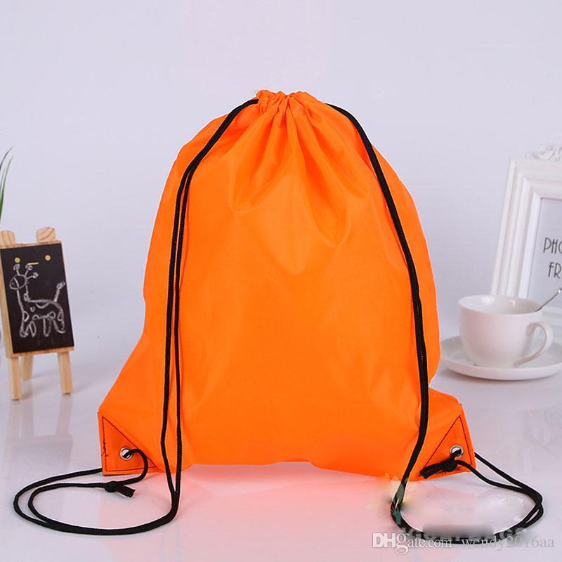 nuovo Drawstring 210polyest tessuto Tote bags impermeabile zaino pieghevole borse promozione promozione borsa a tracolla shopping bags