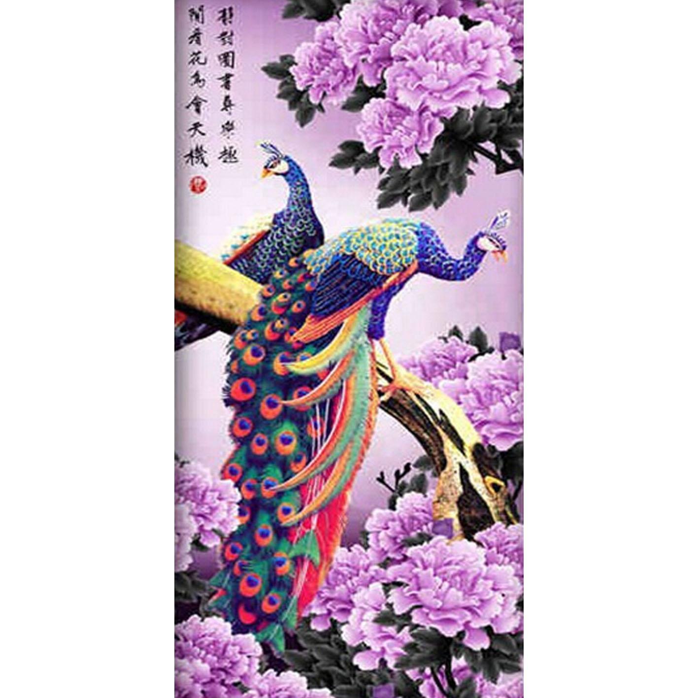 2019 Diamond Embroidery Animal Peacock Pattern Pictures Diy Diamond