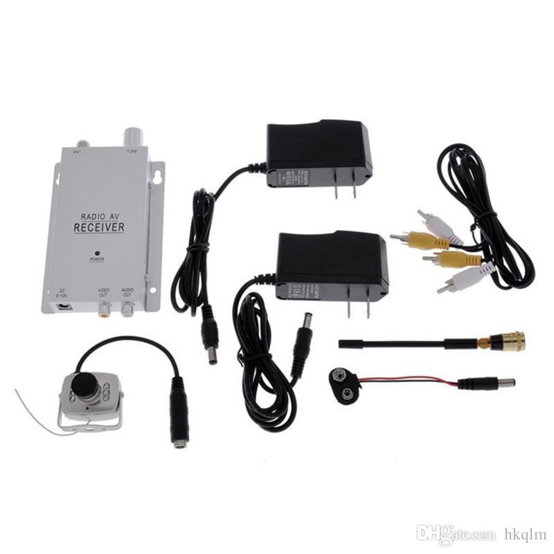 1.2 GHz Wireless Receiver & Wireless Color 6LED IR Nightvision CMOS Mini Camera Wireless CCTV Camera Kit 208C