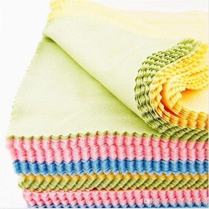 Superfine fiber Glasses Cloth lens Cleaning Cloth sunglass cloth eyewear Microfiber lens Cleaning Cloths 4 colors mixted 14*14cm