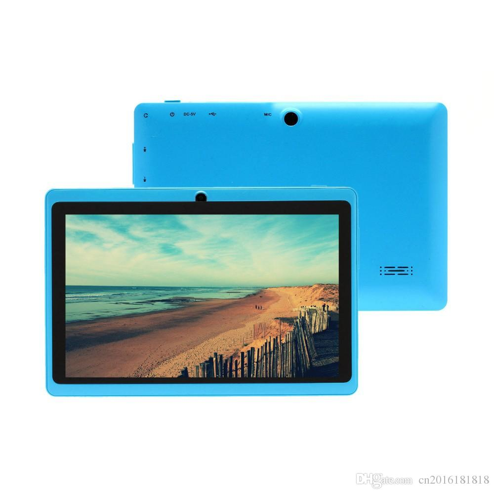 Q87 inch A33 Quad Core Tablet Allwinner Android 4.4 KitKat Capacitive 1.5GHz 1 RAM 8GB ROM WIFI Dual Camera Flashlight Cheapest MQ13