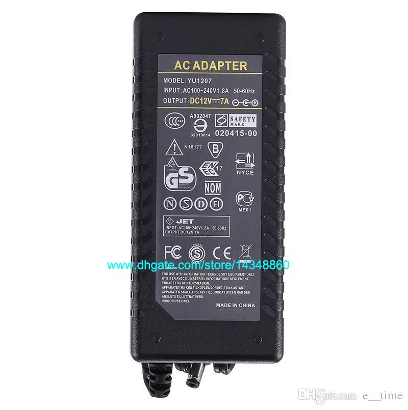 10 pz AC 100-240 V Adattatore Alimentatore DC 12V 7A Alimentatore 6A Caricatore 5050 3528 LED Monitor Con Chip IC