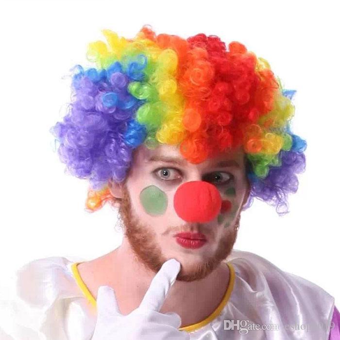 2016 Red Sponge Foam Ball Clip Circus Clown Nose Comic Halloween Costume Party Magic Dress