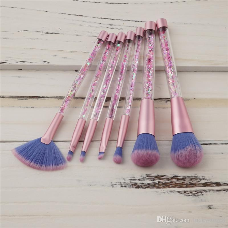 Mermaid Series Makeup Brush Set Quicksand Crystal Cosmetics Brushes Powder Eyeshadow Foundation Make up Tool DHL LIBERA il trasporto