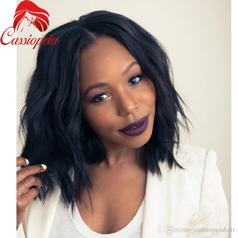 Short Bob Wave Human Hair Full Lace Wigs with Baby Hair Brazilian Human Hair Short Body Wave Lace Front Wigs For Black Women