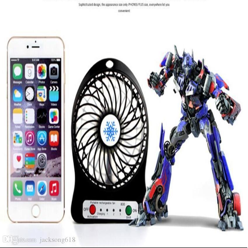 미니 Protable 팬 다기능 USB Rechargerable 어린이 테이블 팬 LED 조명 18650 배터리 조절 3Speed 미니 USB 냉각 팬 도매