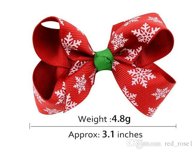 Flickor Hår Tillbehör Baby Julklapp Hårklipp Kids Party Bows Toddler Hairbows Ribbon Hair Clips Headwear