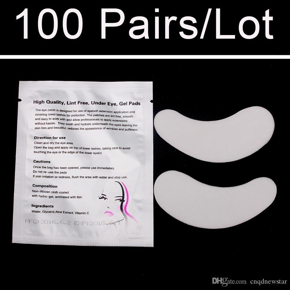 Super Cheap 100 pairs/Bag Luxury Eye Patches Eye Pad For Eyelashes Extensions Makeup Tools and Accessories Stickers
