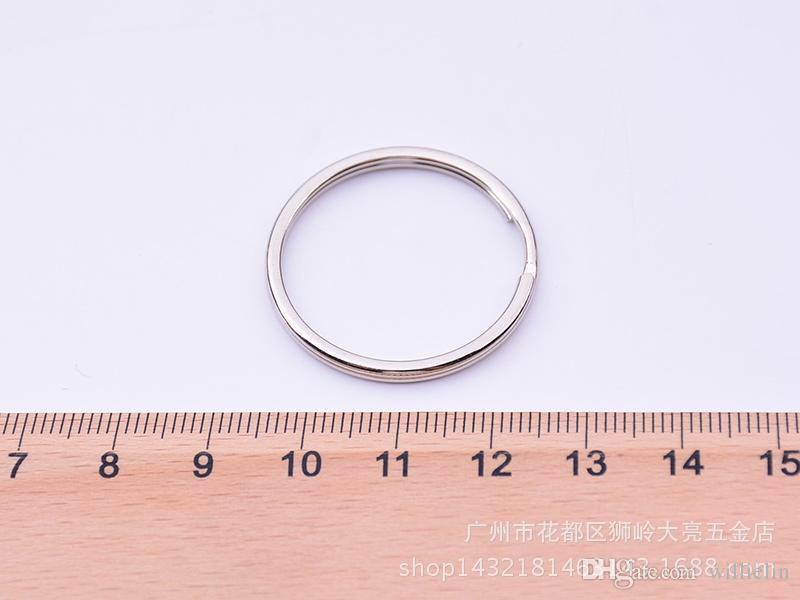 35mm DIY Anéis Chave 304 Aço Inoxidável Chaveiros para Jóias DIY acessórios Bandas de Prata para Venda