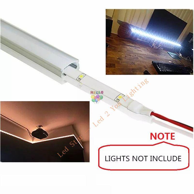 1m 1.5m 2m led profil en aluminium pour led barre de lumière led bande de lumière canal en aluminium boîtier en aluminium étanche forme de U