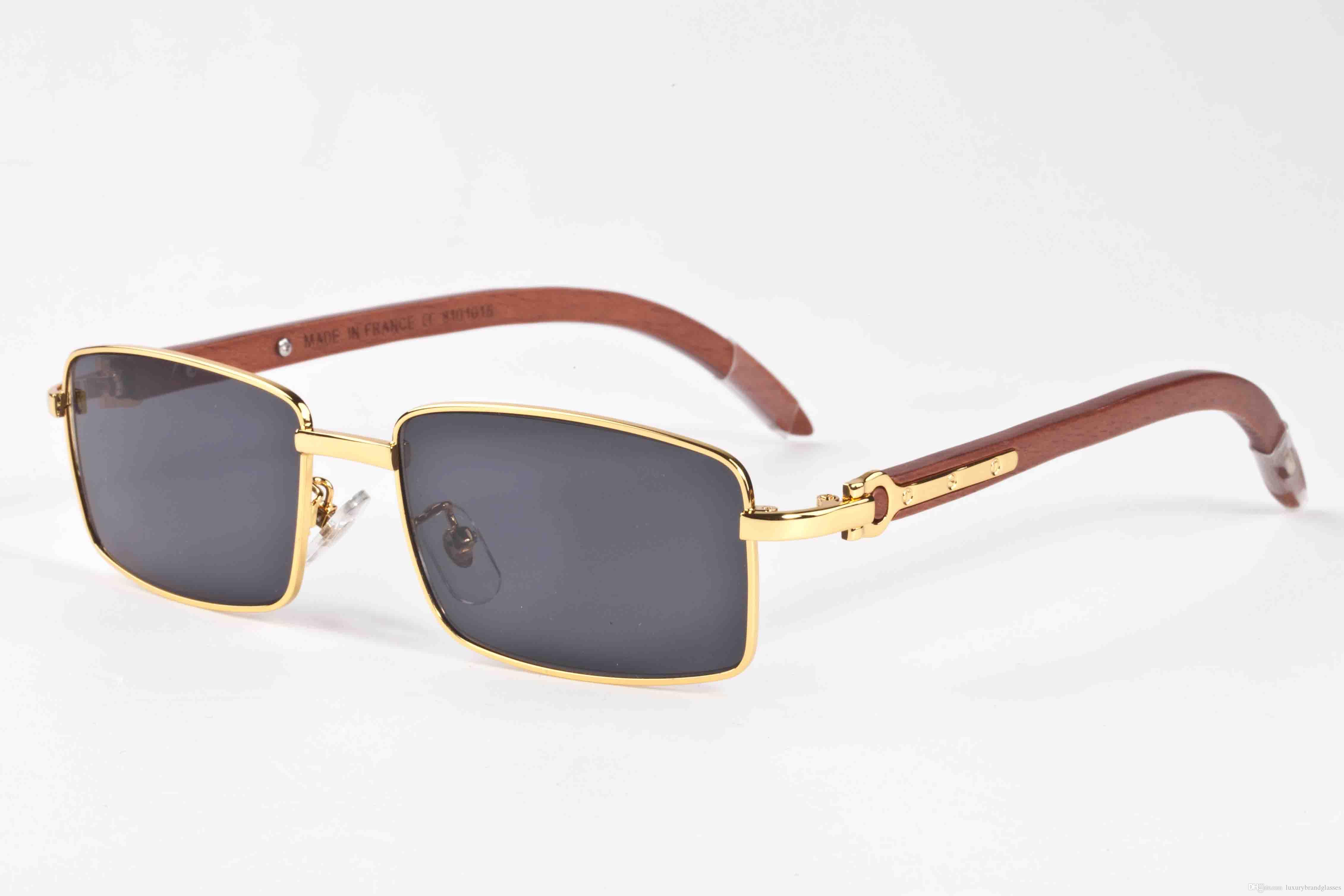 7b646d8699 2017 Vintage Designer Sunglasses Buffalo Horn Glasses For Womens Wooden  Sunglasses Half Frame Clear Rectangular Mirror Lens Eyeglasses Prescription  ...