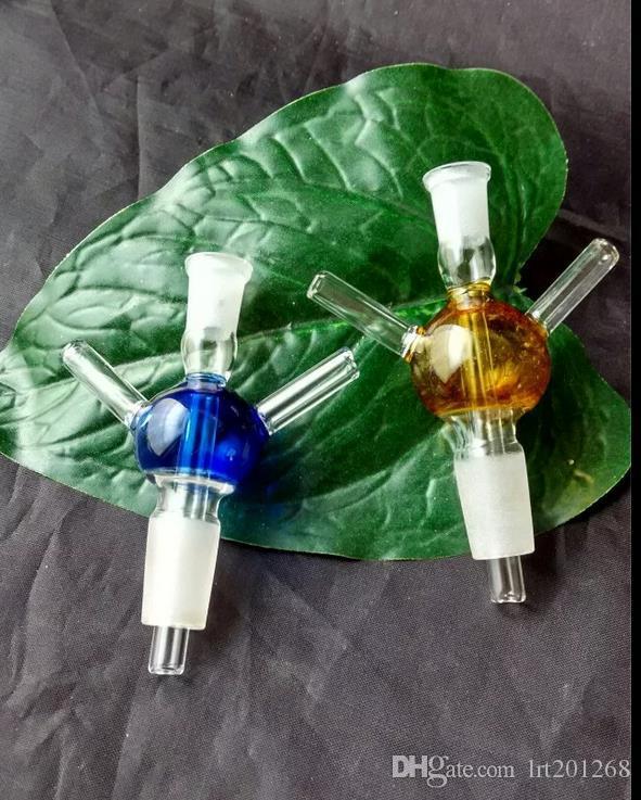 T de bola de vidro - tubo de fumar hookah de vidro Gongos de vidro - plataformas de petróleo bongos de vidro cachimbo de água para cachimbo de água - vaporizador vaporizador