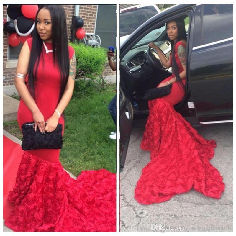 Red long dress cheap 3d