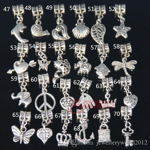 misturado diy encantos beads tibetano prata banhado a liga encantos