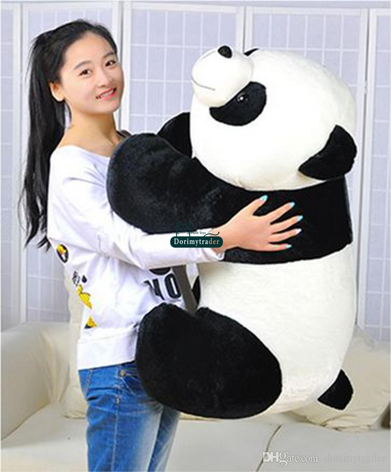Dorimytrader Biggest 90cm Large Funny Emulational Animal Panda Plush Toy Giant Cartoon Stuffed Panda Doll Baby Present DY61331