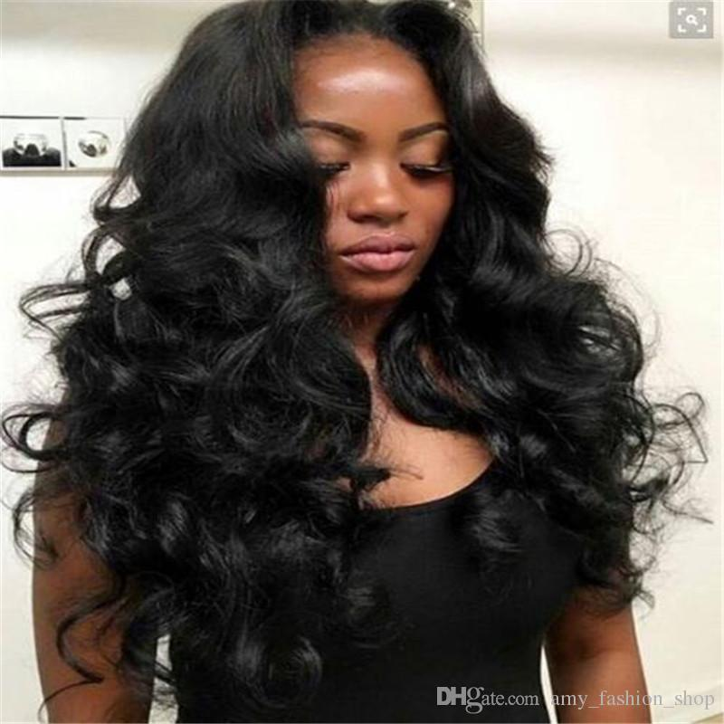 Unprocessed Brazilian Human Hair Brazilian Loose Wave Wavy Full Lace Wig Lace Front Wig Glueless Brazilian Hair