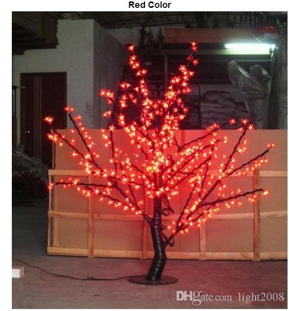 الجملة الصمام شجرة أزهار الكرز الخفيفة الصمام المصابيح 1.5M الطول 110/220VAC سبعة ألوان للخيار حرية الملاحة