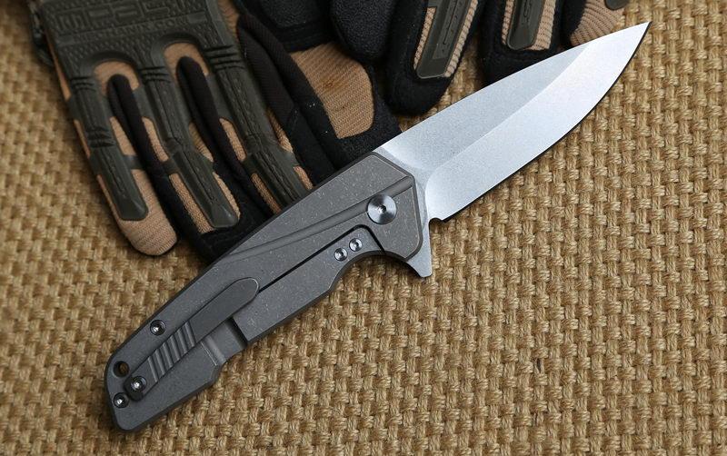 Dicoria original The Rock Couteau pliant Titane poignée S35VN lame Flipper portant Tactique chasse camping survie en plein air Couteaux EDC outils