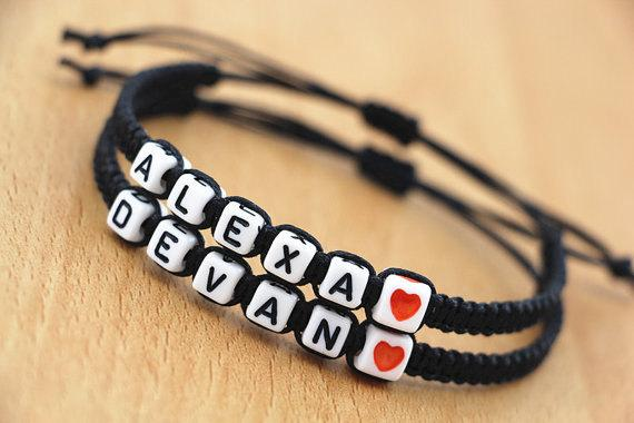 Super Wholesale Handmade Letter Beads Jewellery Couples Lovers' Name  FK06