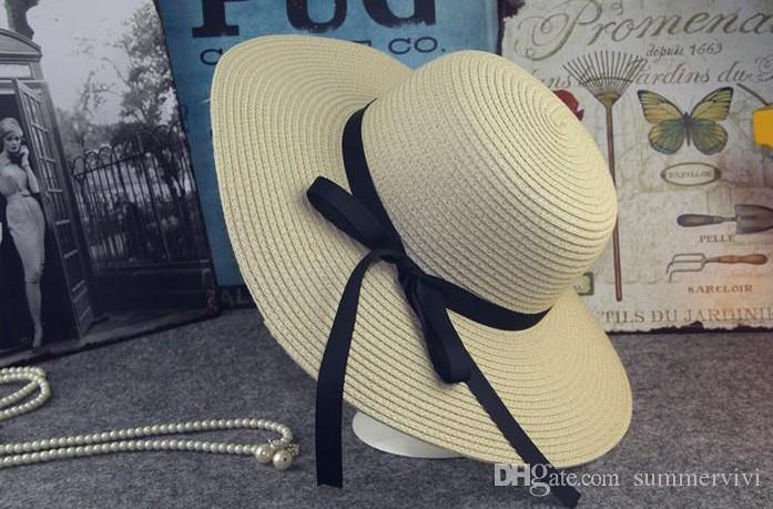 vente Hot Summer New Girls Mode Princesse chapeaux de plage pour enfants Chapeaux enfants été évidé bobs Mode Bébé Chapeau de paille Bows A9296