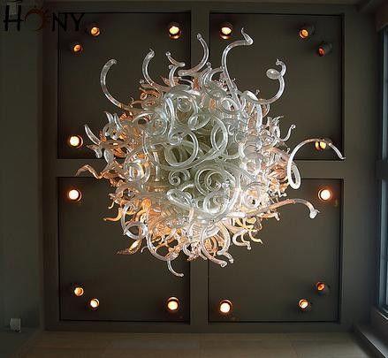 Envío gratis 110 v / 120 v / 220 v / 240 v Oficina de la vendimia de iluminación del hogar Popular mano de vidrio soplado arte araña