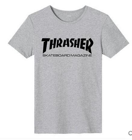 afae045c2da5 Factory Discount Sale! Thrasher T Shirt Men Wome Flame Blaze ...