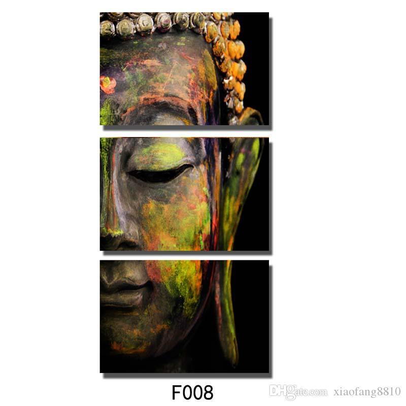/ Set Bouddha peinture à l'huile wall art peintures image paiting toile peintures décor à la maison Giveaways wall sticker No Frame