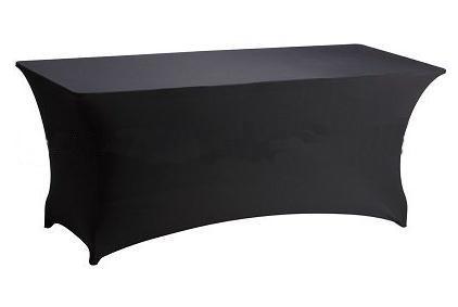 Lycra rectangle noir Spandex Table Tissu couverture beaucoup pour mariage, Banquet, Hôtel, Banquet Utilisation