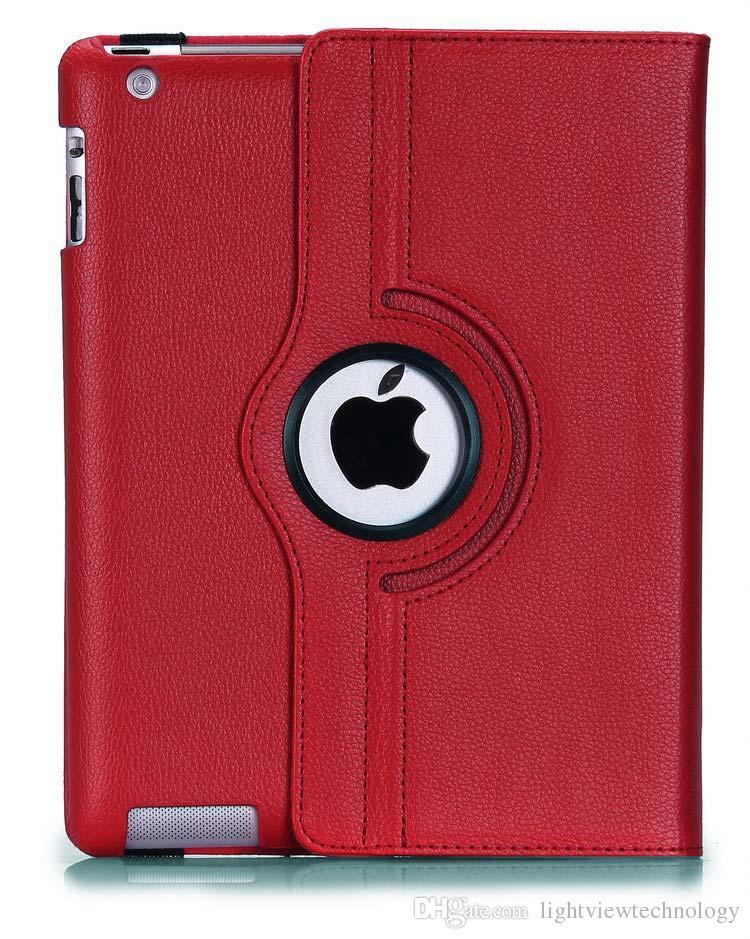 Pour iPad Pro 9.7 Pu Cuir 360 Etui Rotatif Etui Intelligent Pour iPad Air 2 Etui Galaxy Mini Retina Etui Pliant