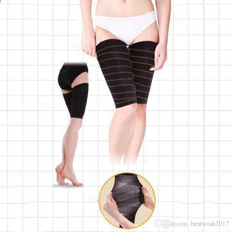 d3dccb9c293f58 ... Women's Fashion Beam Leg Bands Thigh Shaper Compression Stockings  Slimming Thighs Shaper Color: ...