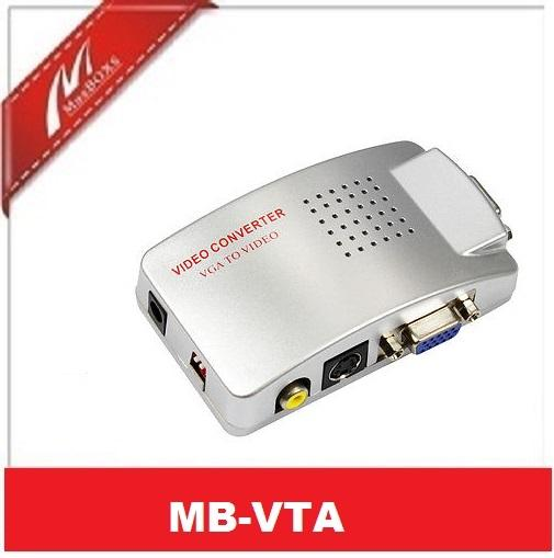 VGA to AV RCA TV Monitor S-Video Signal Converter Adapter Switch Box PC Laptop