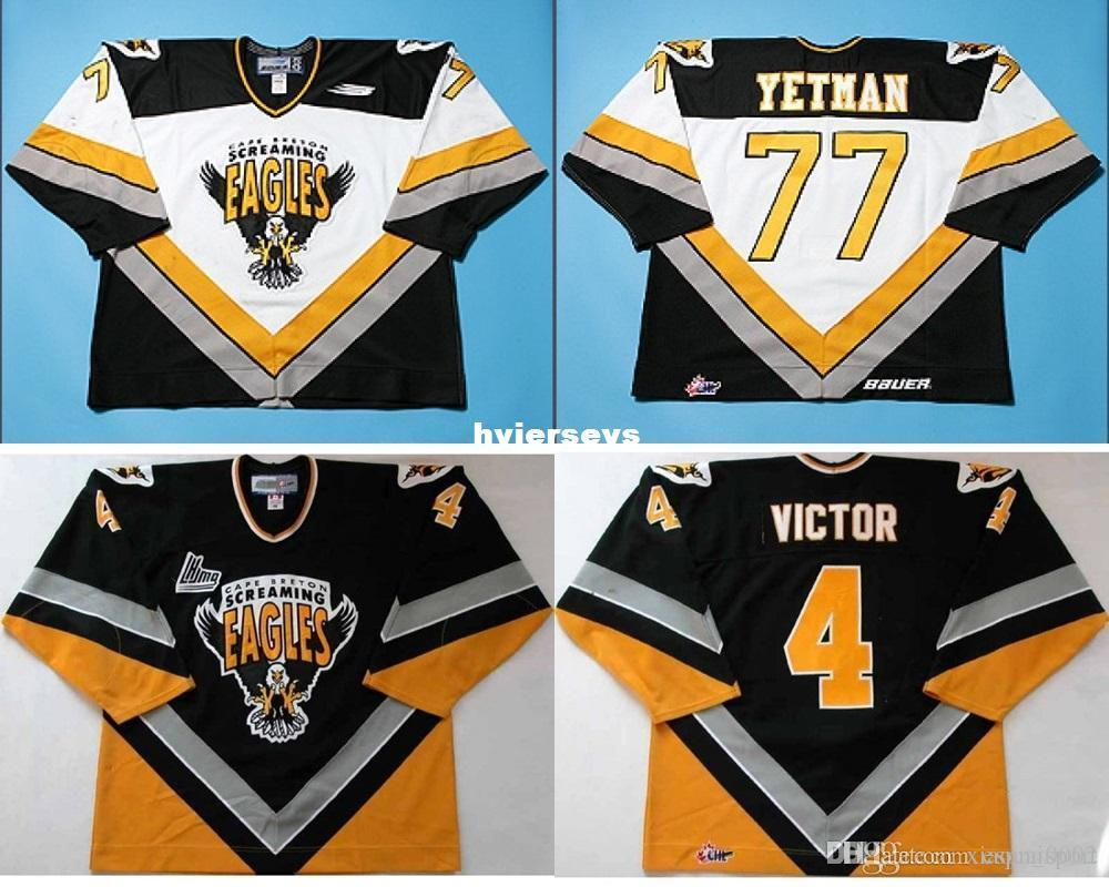 cheap for discount 4cafa ee827 custom Customize QMJHL Cape Breton Screaming Eagles Jersey 4 David Victor  77 Patrick Yetman Mens Womens Kids Ice Hockey Cheap Jerseys Goalit