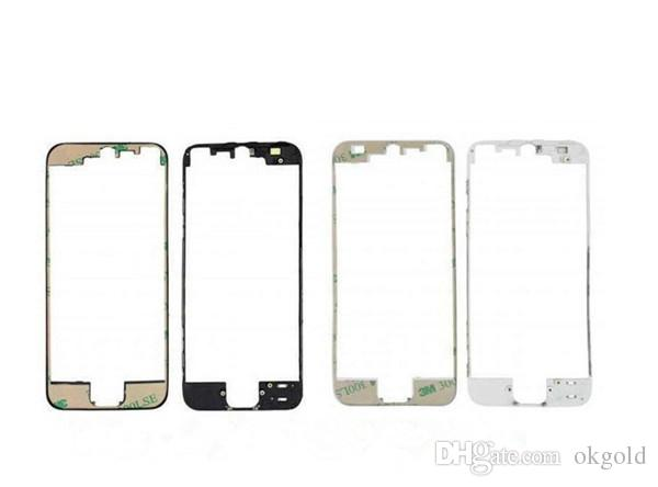 for iPhone 5 5C 5S Front Middle Frame Bezel Housing W/3M Adhesive Heat Glue Black White (102IP5GAM10)