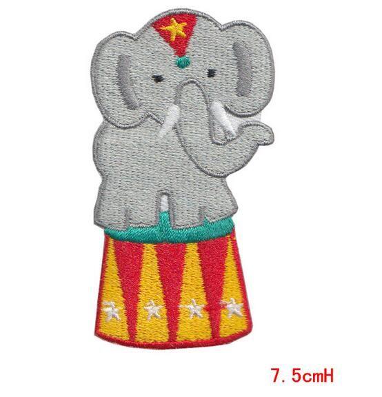 Cartoon animal patch cloth patch applique Embroidered for Kids Rainbow Heart Retro Kawaii Rockabilly DIY Apparel Accessories