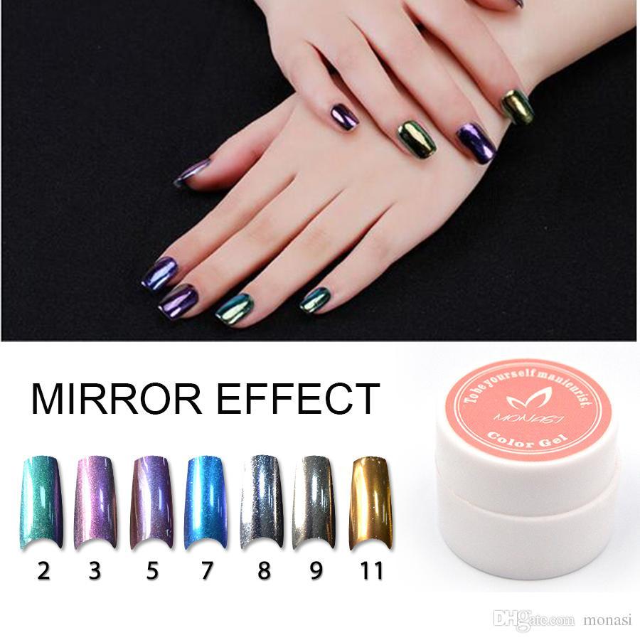 2g Mirror Powder Metallic Gold Silver Pigment Chrome Nail Glitter ...