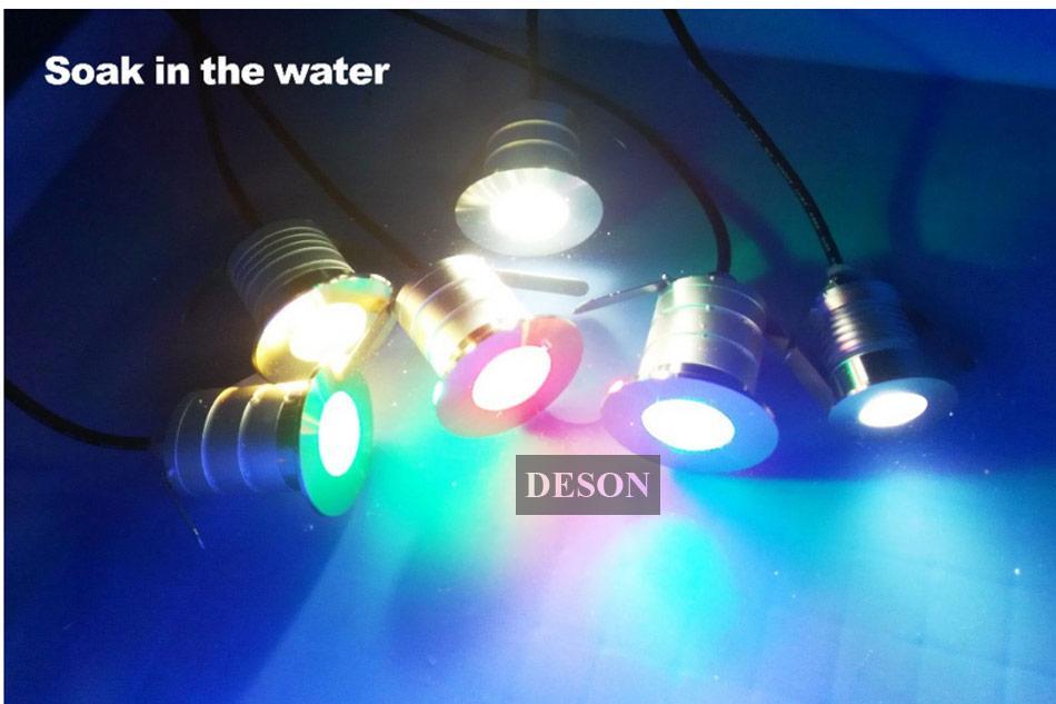 3 Вт LED подземный свет лампы открытый похоронен утопленные этаж лампа водонепроницаемый IP67 низкого напряжения сад пейзаж лестница освещение светильник