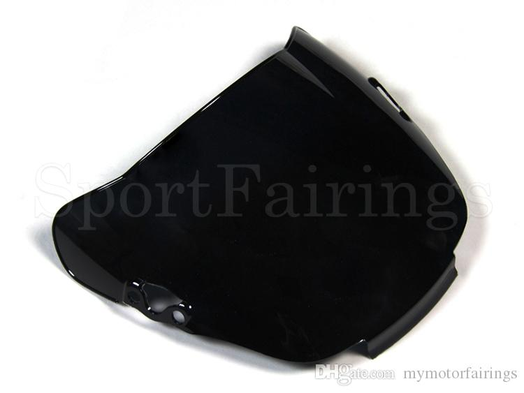 Windscreen ABS Double Bubble Blue Black Clear Windshield For Honda CBR600 F2 91 - 94 Year 1991 1992 1993 1994 Motorcycle Windshield