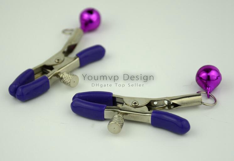 Alternativa juguetes sexuales campana pezón abrazaderas con la campana de colores sacudiendo estimular nublado clip del pecho femenino JJD0047 juguetes para adultos