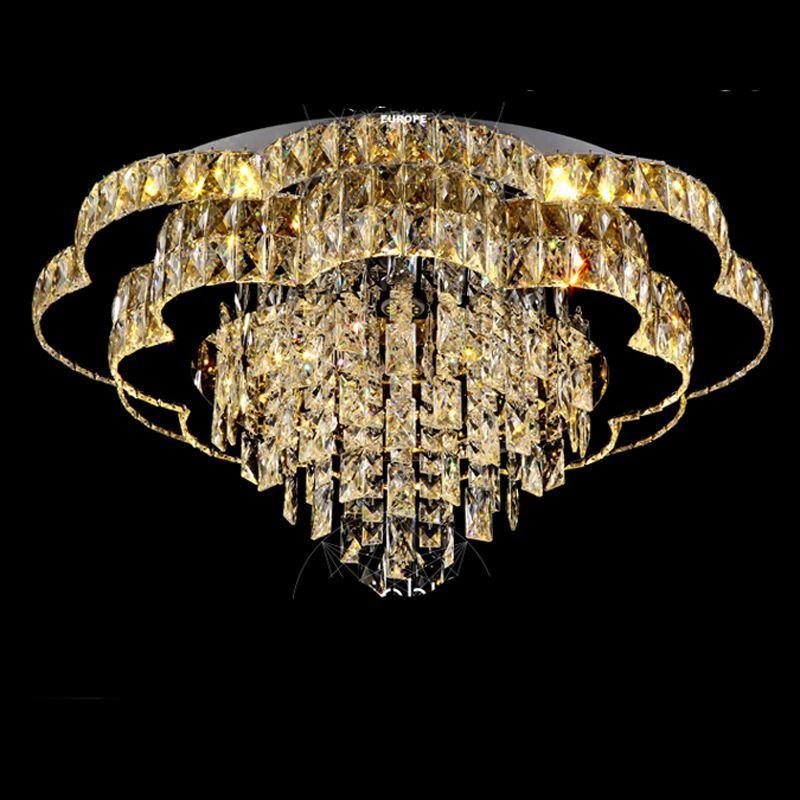 Großhandel Kristall Led Deckenleuchte Wohnzimmer Lampe Runden Luxus ...