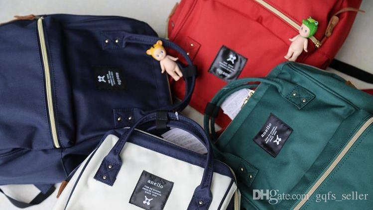 ANELLO JAPAN bag Original Backpack Rucksack Canvas Quality School Bag Campus Travel Kids Children Bag mummy handbags messenger shoulder bags