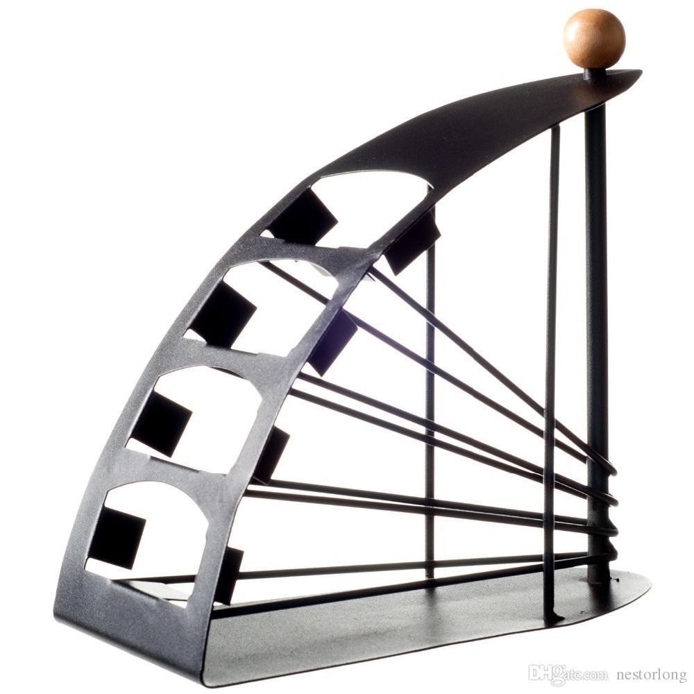 2016 vendita calda TV Remote Control Organizer in acciaio Universal Storage Organizer Holder Rack Stand 4 strati