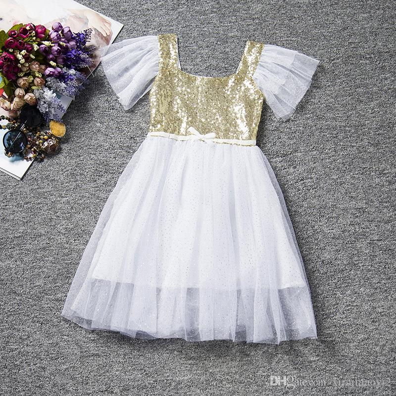 Wholesale Christmas Baby Girls Lace Tutu Dresses Childrens Prubcess Sequins Dresses for Kids Clothing 2016 Winter Summer Party Dress