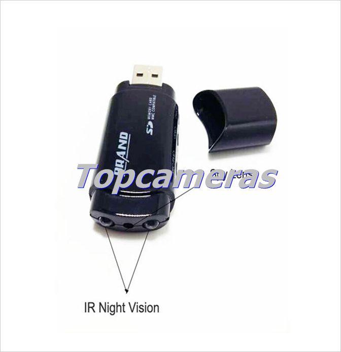 HD 1080P Disco USB Cámara U838 U disco Mini DVR Videocámara USB Flash Drive Mini DV Cámara Soporte Visión Nocturna