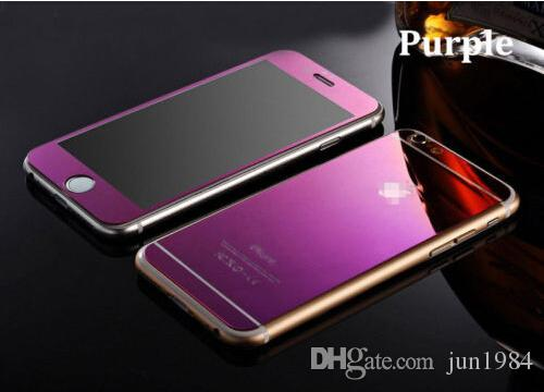 Mirror Tempered Glass Front + Back Screen Protector For Apple iphone4/4S 5/5S SE 6S & Plus