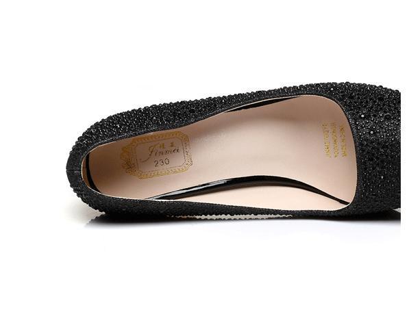 Glitter silver wedding shoes gold diamond rhinestone sexy high heels princess prom ball shoes size 34 to 39 YL